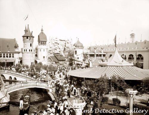 Inside Luna Park New York Coney Island 1905 -Historic Photo Print