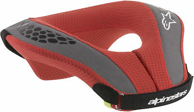 NEW ALPINESTARS SEQUENCE YOUTH KIDS NECK ROLL SUPPORT BLACK RED YS//YM YL//YX