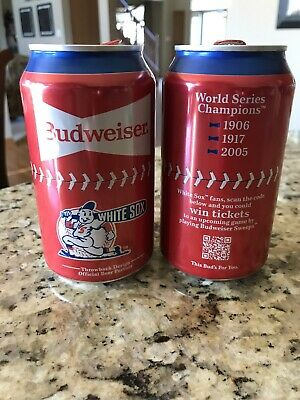 Chicago Cubs Baseball 2020 Throwback Design Budweiser empty 12oz beer can