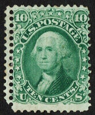 "Latest Collection Of Us Sc# 68 *mint Og H* { Double Perfs ""error Var } 10c Washington 1861 Cv$ 1100 Stamps"