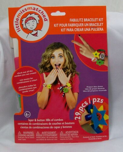Little Miss Matched Fabulitz Bracelet Kit Layer /& Button 100s Of Combos *New
