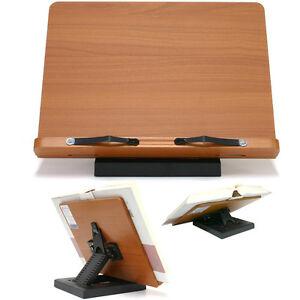 Book Stand Portable Wood Reading Desk Cookbook Rest Adjustable Holder Clover | eBay