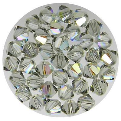 **Genuine Swarovski Black Diamond AB Bicone Crystal Beads