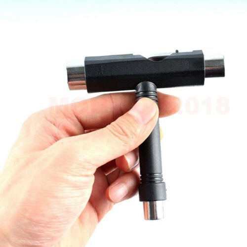 Black Color Skate Skateboard Longboard T TOOL MultiFunctional All In One Wrench
