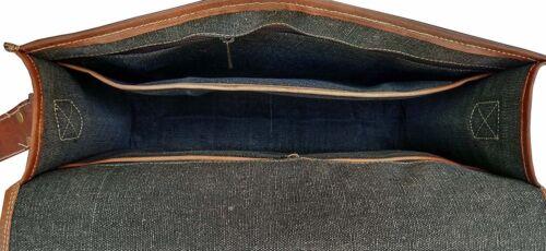 Mens Genuine Vintage Leather Satchel Messenger Man HandBag Laptop Briefcase  Bag
