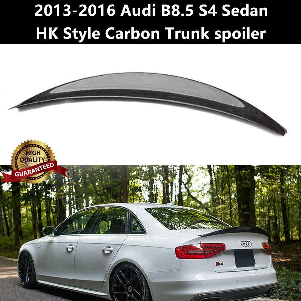 Carbon fiber Rear Trunk Spoiler Wing for 2013-2016 Audi S4 B8.5 Sedan Type C
