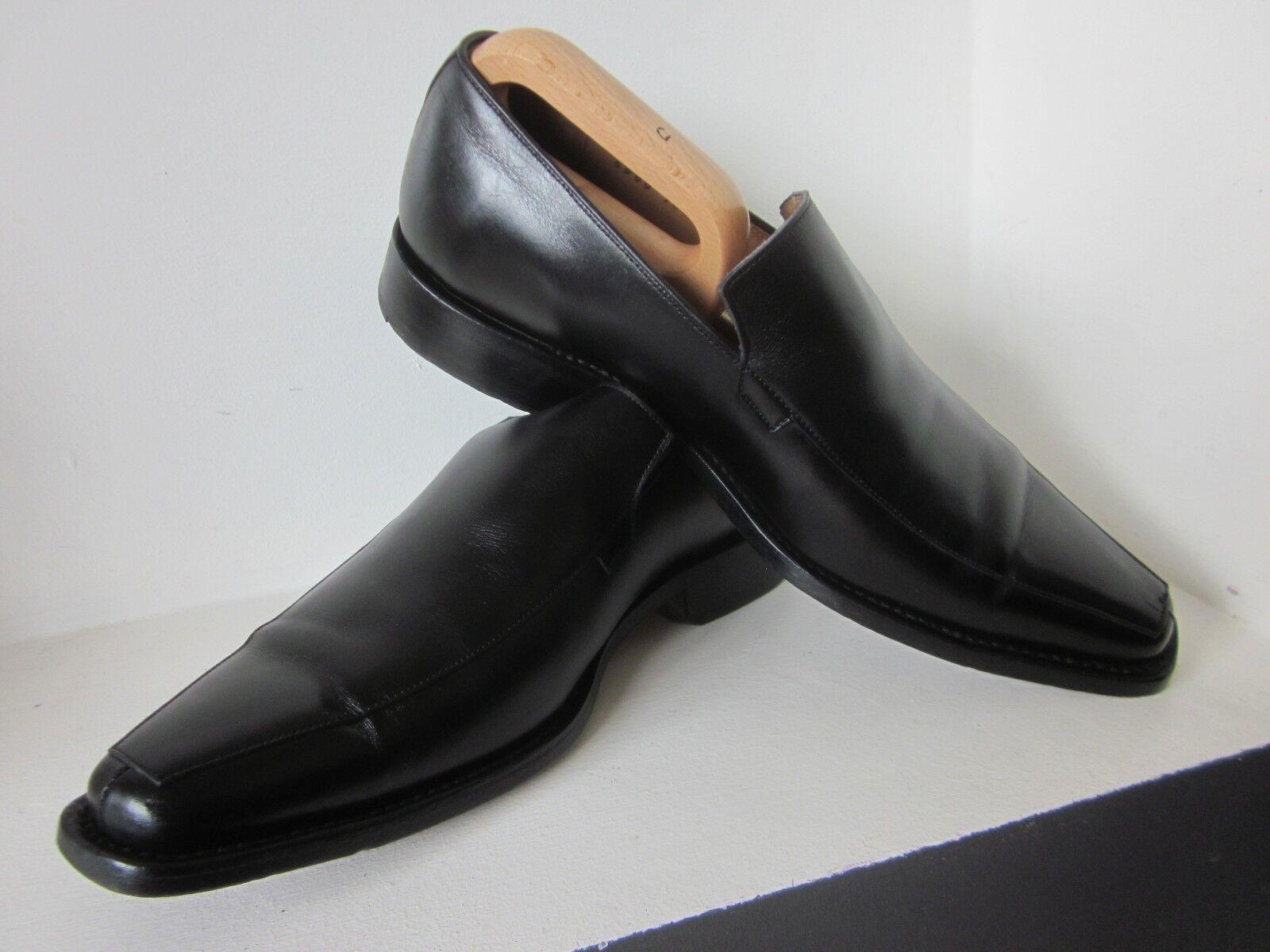 £395 GARY ANDERSON SAVILE ROW SHOES (7.5/eu41) BLACK LEATHER SLIP-ON 5999-7833-4