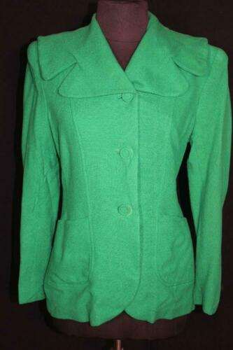VERY RARE VINTAGE 1940'S GREEN WOOL FITTED JACKET