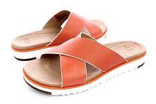 08a449b1e3f UGG Australia Kari Fire Opal Leather Sandals Size 10 US Womens