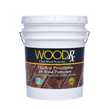 Premium 5 Gallon Clear Water Repellent Wood Sealer Exterior Stain Waterproofing