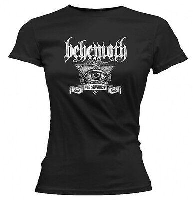 Behemoth - Satanist Eye Ladies Girls Black T-shirt - BRAND NEW