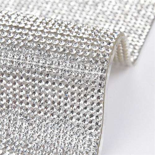 24*40cm Crystal Rhinestone Gems Bling Stickers Self Adhesive Sheets DIY Crafts