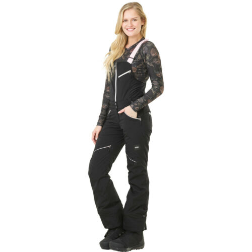 Picture Haakon Bib Ladies Ski Pants Snowboard Dungarees Snow Trousers With New