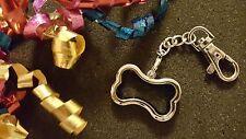 Silver Dog Bone Living Locket Keychain for Floating Charms - US Seller