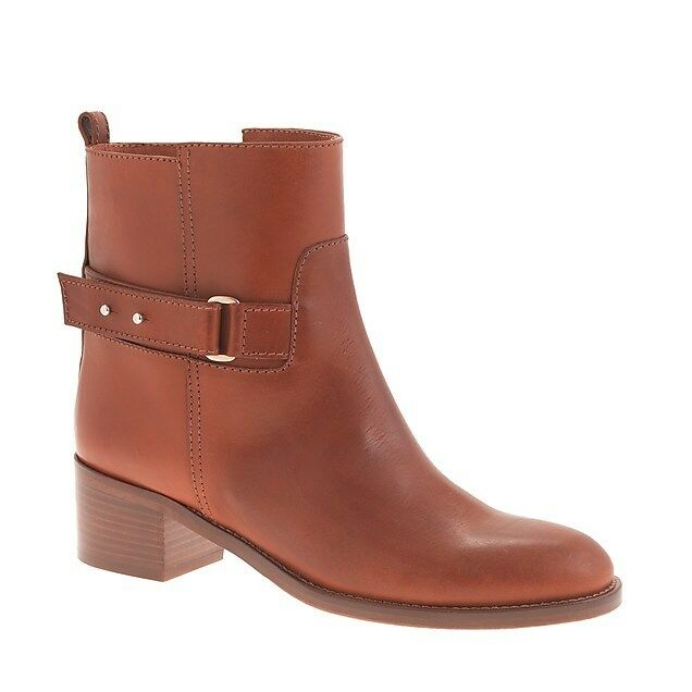 J CREW PARKER Damenschuhe ANKLE BOOTS BROWN 11 SLIP ON METAL ADJUST SOLD OUT $278