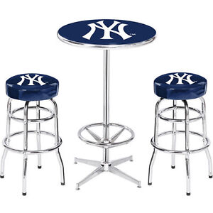 Sensational Details About 2 New York Yankees Bar Stools Pub Table Caraccident5 Cool Chair Designs And Ideas Caraccident5Info