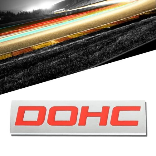 Red//Chrome DOHC Sign Trim Rear Trunk Polished Badge Decal Emblem 3M Tape