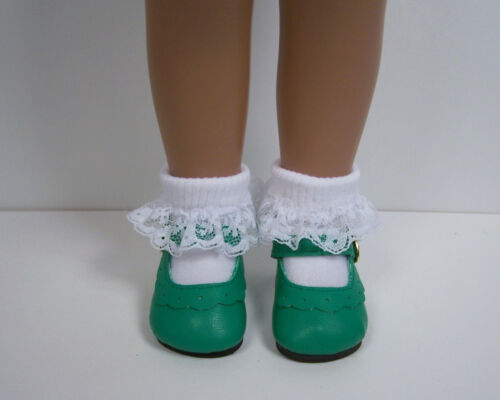 "GREEN Classic Doll Shoes For 16/"" 17/"" Sasha Debs"