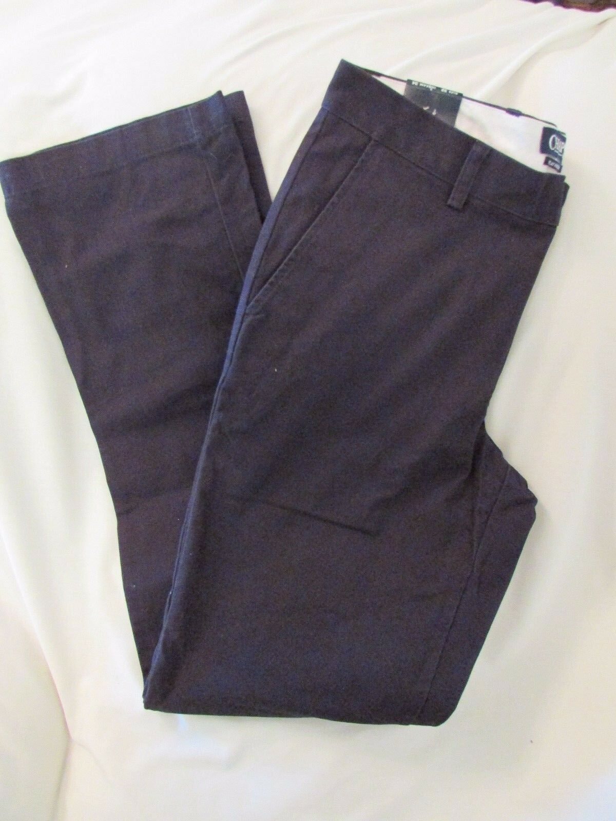 Men's  Chaps  Size 36x34, Navy, Classic, Straight, Flat Front, Pants