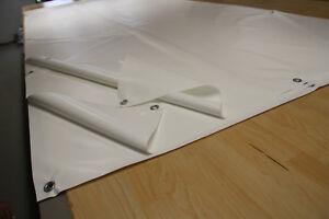 Ösen Schutzplane ABdeckplane 910g//m² Meterware Saum LKW// PVC Plane