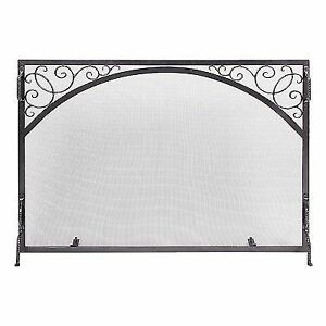 minuteman international scroll single panel iron fireplace screen rh ebay com minuteman international fireplace screens