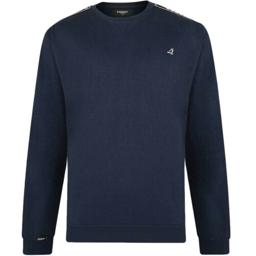 Kangol Mens Foray Big Tall Long Sleeve Crew Neck Pullover Sweatshirt Jumper Top