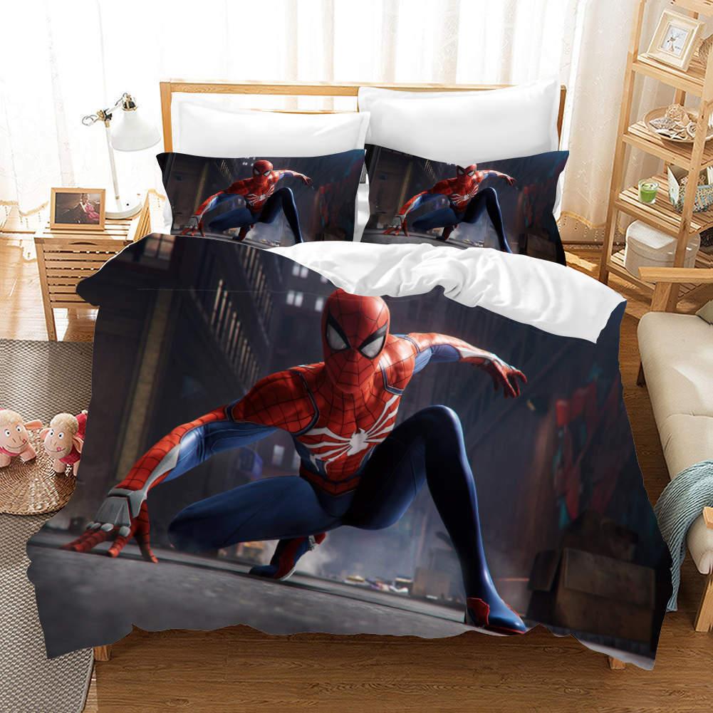 Cool Spider Man 3D Printing Duvet Quilt Doona Covers Pillow Case Bedding Sets