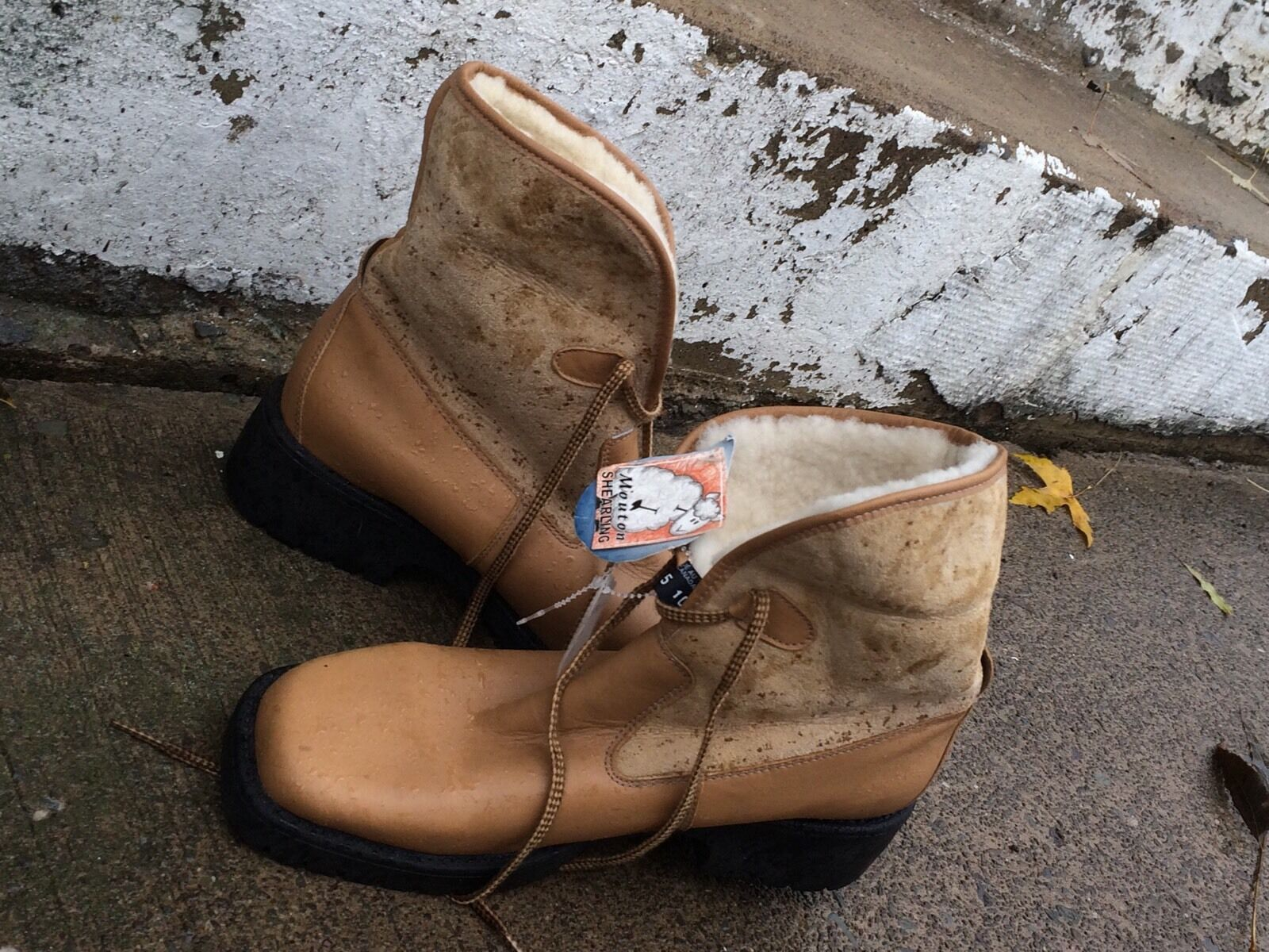 BARBO CANADA TAN LEATHER  NWT SHEARLING Stiefel 10  LEATHER Ret. 225.00 Or More 5bfa75