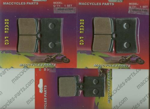 3 sets Bimota Disc Brake Pads SB6//6R 1997-2001 Front /& Rear