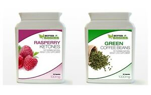 90-Raspberry-Ketone-90-Green-Coffee-Bean-Extract-Diet-Weight-Loss-Bottle-Pack