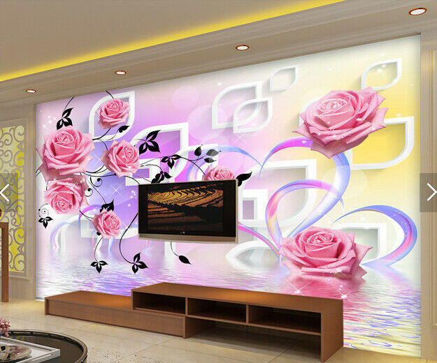 3D Love Flowers 738 Wallpaper Mural Paper Wall Print Wallpaper Murals UK Carly