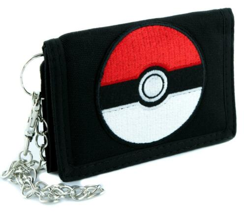 Pokeball Pokemon Go Tri-fold Wallet with Chain Alternative Clothing Gotta Catch