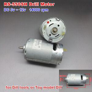 High speed dc 6v 9v 12v 14000rpm mabuchi rs 550sh dc motor for Electric motors for kids