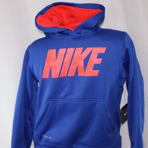 4bf6758a6a46 NEW Boys Youth NIKE 532356 409 Blue Solar Therma Fit Hoodie ...