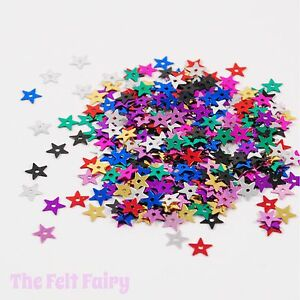 Mixed-Large-Star-Sequins-100-Loose-Sparkle-Multi-Coloured-Mix-13mm
