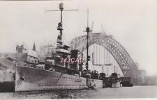 "Dutch Navy Real Photo. HNLMS ""Java"" Cruiser. Evertsen & De Ruyter Sydney Harbour"
