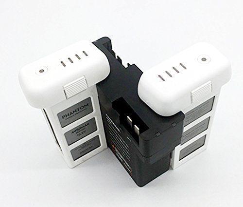Battery Charing Hub 4 Batteries Charger for DJI Phantom 3 Standard//3 SE//Pro//4K