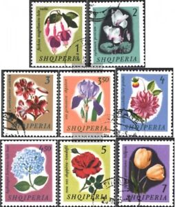 Albanien-959-966-kompl-Ausg-gestempelt-1965-Blumen