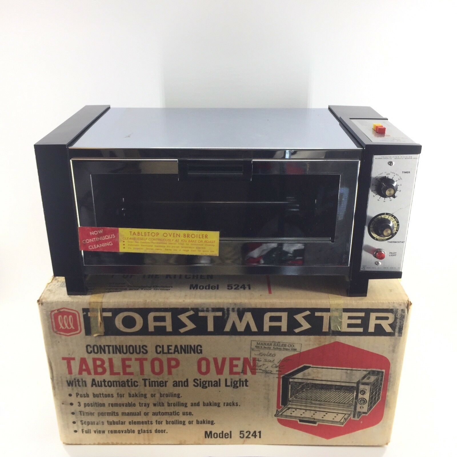 Vintage TOASTMASTER CONTINUOUS Four Broiler Model 5241 I ORIG BOX Tabletop U2A