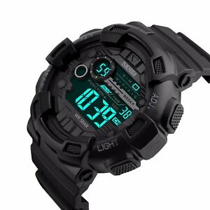 SKMEI-Mens-Tactical-Digital-LED-Waterproof-Military-Sports-Stopwatch-Wrist-Watch