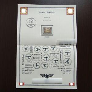 Germany-Nazi-1943-Stamp-MNH-Mail-Coach-WWII-Third-Reich-German-Deutschland
