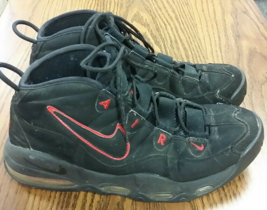 2010 NIKE AIR MAX UPTEMPO RED PIPPEN BULLS BLACK VARSITY RED UPTEMPO 311090-002 MENS 10 3206a3