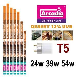 Arcadia-T5-Reptile-Lamp-Bulb-Tube-D3-Desert-12-UVB-24w-39w-54w