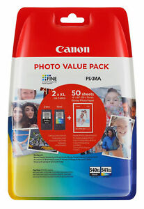 Canon PG-540XL and CL-541XL Colour Ink Cartridge