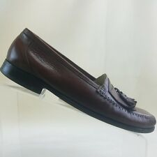 42f43be5bf7 Florsheim Mens Brown Leather Tassel Kiltie Loafers Size 9D Dress Shoes  G10