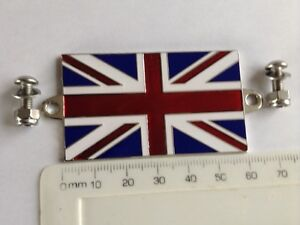 Union Jack Badge GB  Flag Car & Motorcycle Triumph Spitfire Wing Mg Mgb Mini
