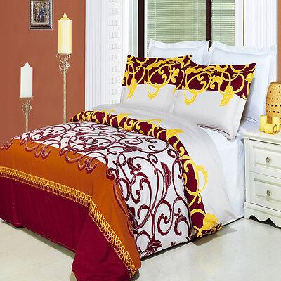 LUXURIOUS Arlington 100/% Egyptian Cotton Multiset Duvet Cover Sets 4 Sizes