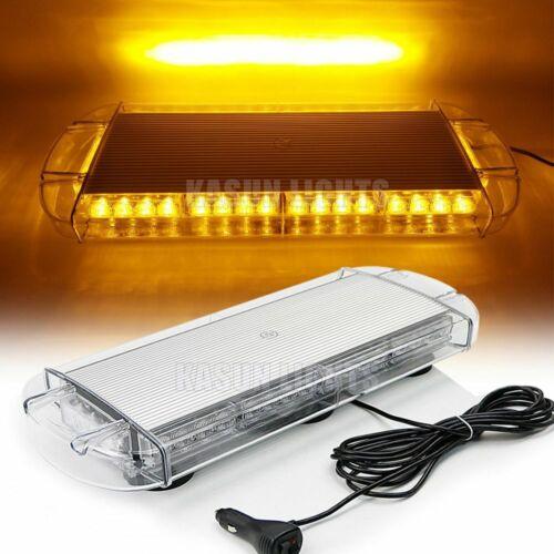 """21/"""" 40 LED Car Emergency Beacon Strobe Light Bar Roof Hazard Warning Light Amber"""