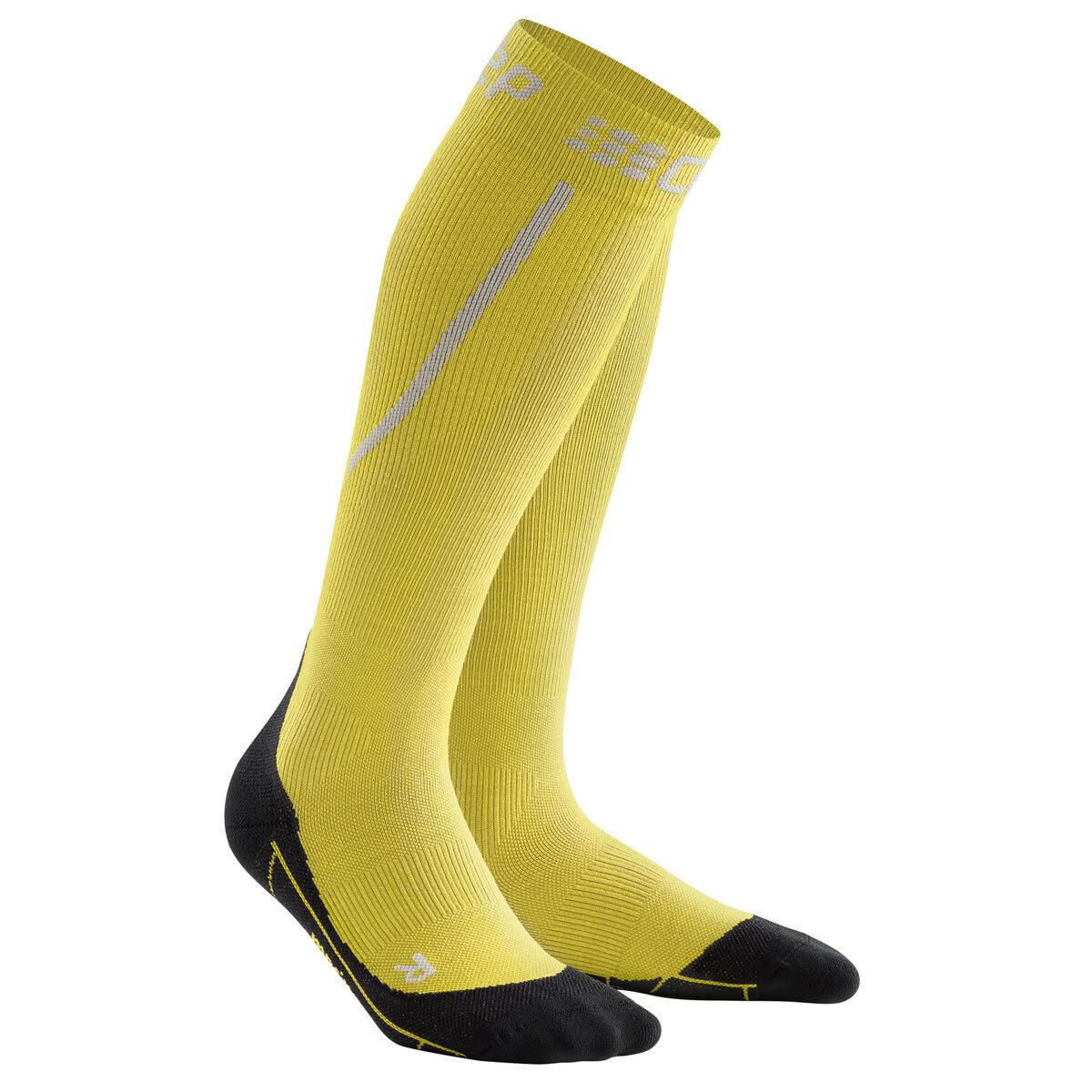 CEP Winter Run SOCKS Uomo Merino giallo nero   wp50gu Novità