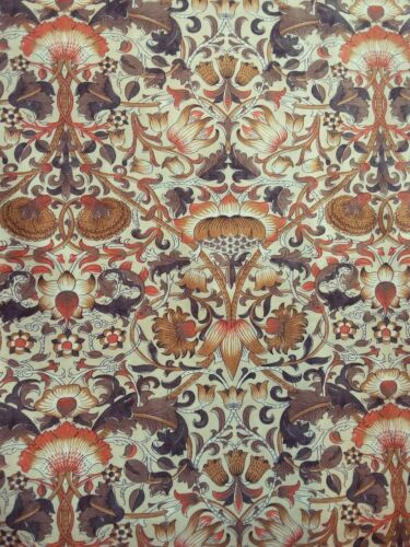 """William Morris Lodden Fabric 100/% Cotton 44/"""" Wide Over 10,000 Positive Reviews"""